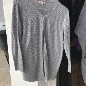 Grey lightweight cardigan